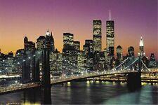 BROOKLYN BRIDGE POSTER - 24x36 CITYSCAPE SKYLINE NYC NEW YORK CITY 2005