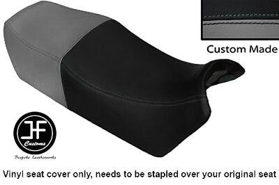 BLACK AND GREY VINYL CUSTOM FITS <em>YAMAHA</em> FJ 1100 84 86 DUAL SEAT COVER