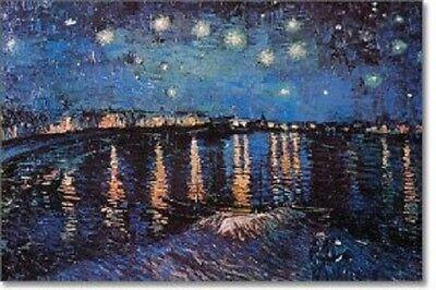 "Vincent Van Gogh art poster 24x36"" Starry Night Over The Rhone"