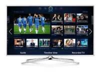 """Samsung 55"""" smart 3d wi-fi TV HD free view full HD 1080p . Screen mirror ."""