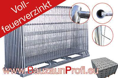 10 x Mobilzaun/Bauzaun Feuerverzinkt inkl. Betonfuss und Verbinder !!! NEU !!!