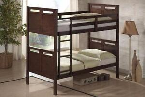 Store Wide Super SALE @ REAL BUY FURNITURE  Brand New Twin/Twin Solid Wood Bunk Bed $399