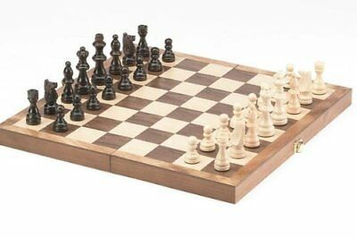 """Chess Set Classic Wood Pieces Board Game Wooden Foldable 15""""Inch Game Family Fun"""