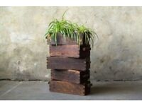 Wooden Planters Vintage Haberdashery Draw Solid Timber Rustic Decor Garden Home