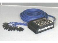 16-Way XLR Snake Stage Box (12 send/4 return) Multicore Audio Loom