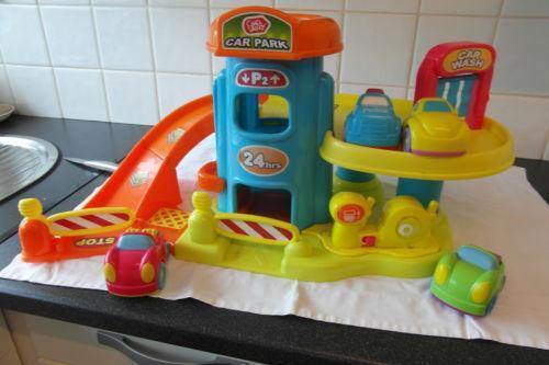 Wooden Toy Car Garage : Wooden toy car garage ebay