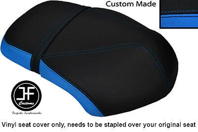 LIGHT BLUE AND BLACK VINYL CUSTOM FITS <em>YAMAHA</em> XF 50 GIGGLE DUAL SEAT C