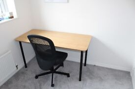 Ikea Bamboo Desk with Ikea Chair - CAN DELIVER - £50 o.n.o