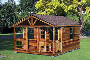 Outdoor-Structure-Building-Cabin-Shed-Plans-Material-List-Includes-62016