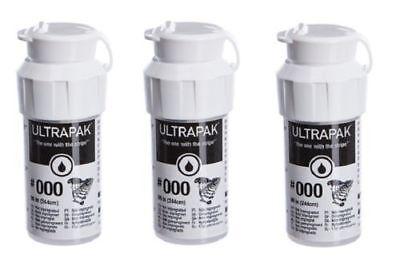Ultrapak Dental Gingival Retraction Knitted Cord Size 000 Ultradent 3 Bottles
