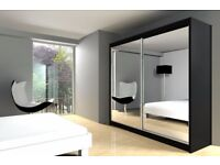 【BRAND NEW 】HIGH QUALITY BERLIN 120CM SLIDING WARDROBE FULL MIRROR AVAILABLE SAME DAY CALL NOW!
