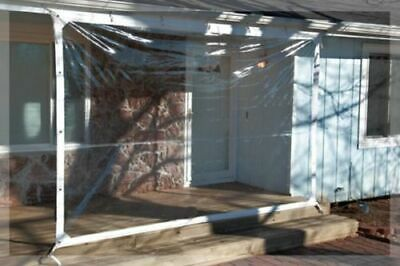 7' x 30' Clear Glass Tarp 35 MIL Smooth Vinyl Patio Enclosure USA Made