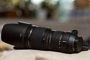 Lentille Tamron 70-200 mm f / 2,8 Di LD Macro (IF) pour Nikon AF