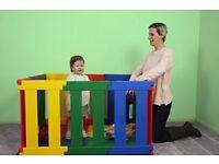 TikkTokk Nanny Panel Playpen (Multi-Coloured) - super sturdy baby playpen
