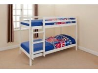 SHORTY 2ft6 WHITE BUNK BED brand new