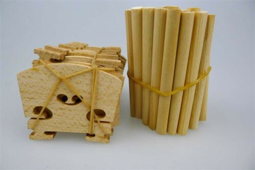 100pcs 4/4 violin bridges+100pcs violin sound posts spruce maple wood