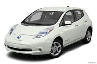 2012 Nissan Leaf Hatchback 100% electric, pearl white