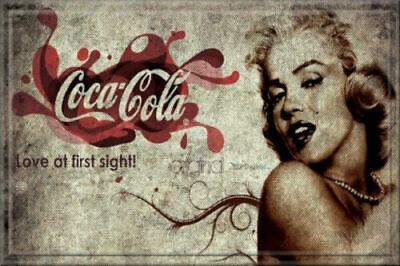 Marilyn Monroe Coca Cola Tin Sign (Ann Margaret Raquel Sophia Gina Jean Jayne)