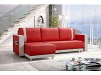 Modern Corner Sofa Bed With Bedding Storage - Brand New