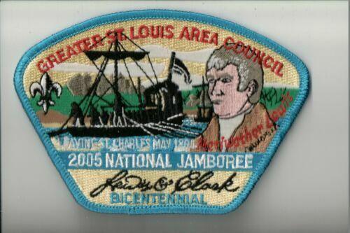 Boy Scout Greater St. Louis Area Council 2005 National Jamboree CSP Blue Border