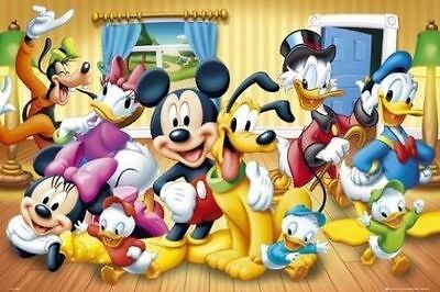 MICKEY MOUSE & FRIENDS POSTER - 24x36 - DISNEY 51539 - Mickey Mouse Poster