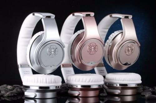 Bluetooth Headphones,Wireless, NFC SODO, most Advanced & Latest model MH1 silver