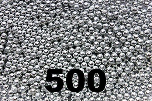 500 ct Silver Zinc Plated Metal BBS 4.5mm (.177 Cal) Air Guns & Slingshots