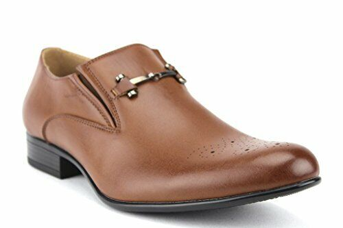New Men's 19592 Casual Dress Leather Lined Slip On Horse Bit Loafers Shoes