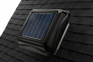 Broan 345CSOBK Curb Mount Solar Powered Attic Ventilator 28-Watt