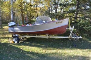 16 foot alum boat & trailer