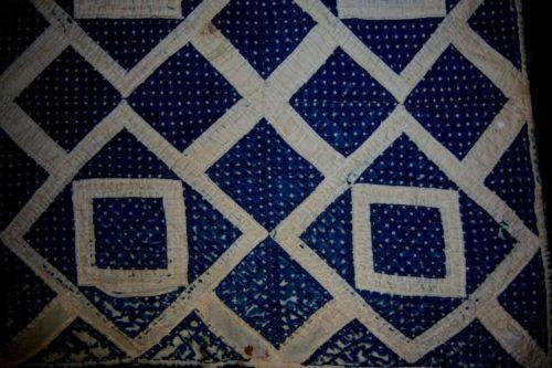 Vintage Blue and White Quilt | eBay
