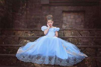 Girl Princess Cinderella Dress Kid Party Wedding Bridesmaid Gown Dresses K68 (Cinderella Girls Dresses)
