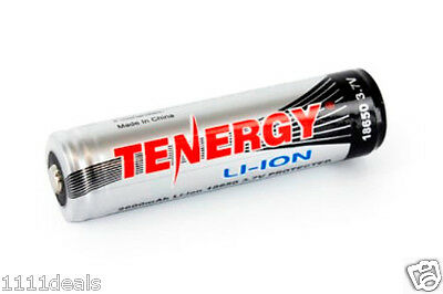Tenergy Li-Ion 18650 Cylindrical 3.7V 2600mAh Button Top x 1