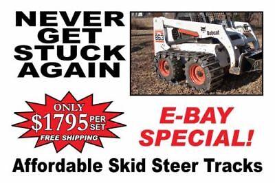 Over The Tire Steel Skid Steer Tracks For Bobcat 853
