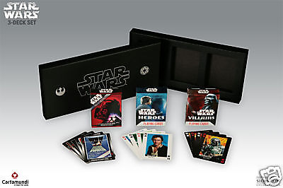 STAR WARS 3 DECKS POKER PLAYING CARDS KARTEN SPIEL IN GESCHENKBOX SIDESHOW