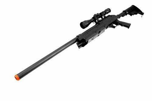 Spring Powered Full Metal Bolt Action Airsoft Sniper Rifle w/ Accurate Scope