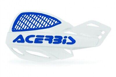 ACERBIS MX UNIKO VENTED HAND GUARDS WHITE/BLUE  Motocross Yamaha YZ125 YZ250