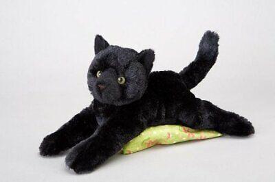 Douglas Cuddle Toys Plush Tug Black Cat Soft and Cuddly
