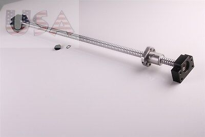Sfu1605 L1000mm Rolled Ball Screw C7 With Bkbf12 End Machined Cnc New