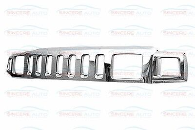 HU1200101 FITS 06-10 HUMMER H3 H3T CHROME GRILLE ASSEMBLY MADE OF PLASTIC