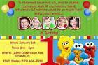 Personalized Elmo Invitations