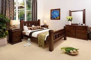 RUSTIC-DRESSER QUEEN BEDROOM SUITE Villawood Bankstown Area Preview