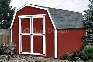 8 x 12 barn shed plans