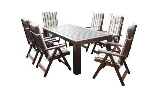 garten sitzgruppe holz ebay. Black Bedroom Furniture Sets. Home Design Ideas