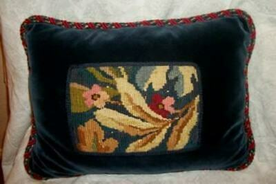 Handmade with antigue needlepoint vintage ribbon antique metallic trims  UNIQUE  free shipping Pillow Cover
