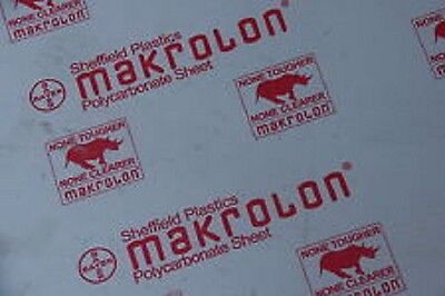 Clear Polycarbonate Sheet 24 X 48 X 18 Lexan Makrolon Thermoforming