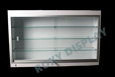 Wall Style White Showcase Display Case Store Fixture Knocked Down Sc-wc439w