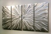 Silver Modern Metal Abstract Wall Art Sculpture Home Decor Static by Jon Alle