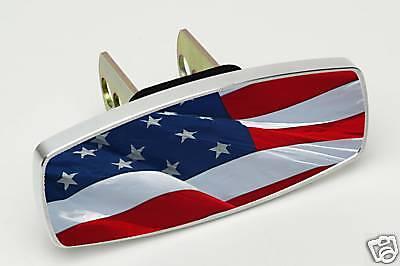USA Waving Flag American Hitch Cap Plug Receiver Cover  1.25 or 2 inch america