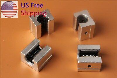 4pcs Sbr12uu Aluminum Open Linear Motion Bearing Slide Block For Linear Rail Us